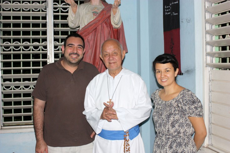 Very Rev Fr Ho Lung with Diego and Marta Barake from Brisbane