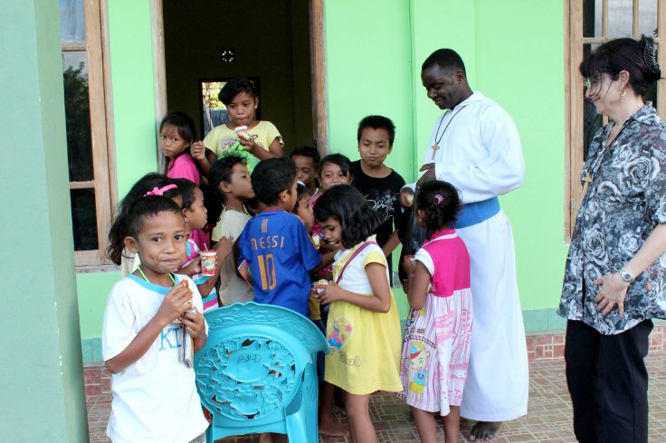 Feeding of the children is just finishing (2 June 2013)