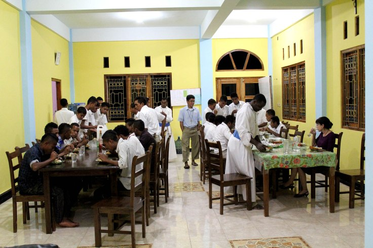 Dinner time at the monastery (5 June 2013)