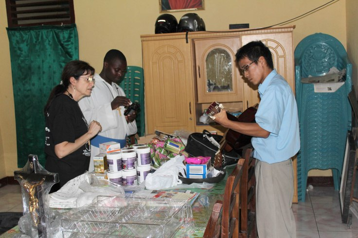 The latest delivery of supplies included much needed vitamin tablets for the brothers (19 March 2012)_IMG_0580