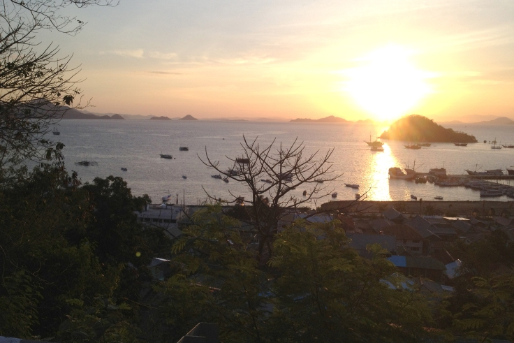 First glimpses of beautiful Labuan Bajo, Flores.