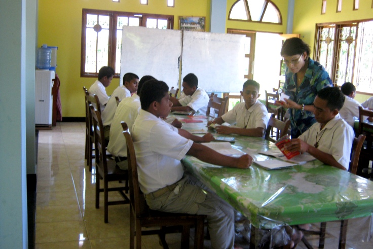 English lesson with the novices