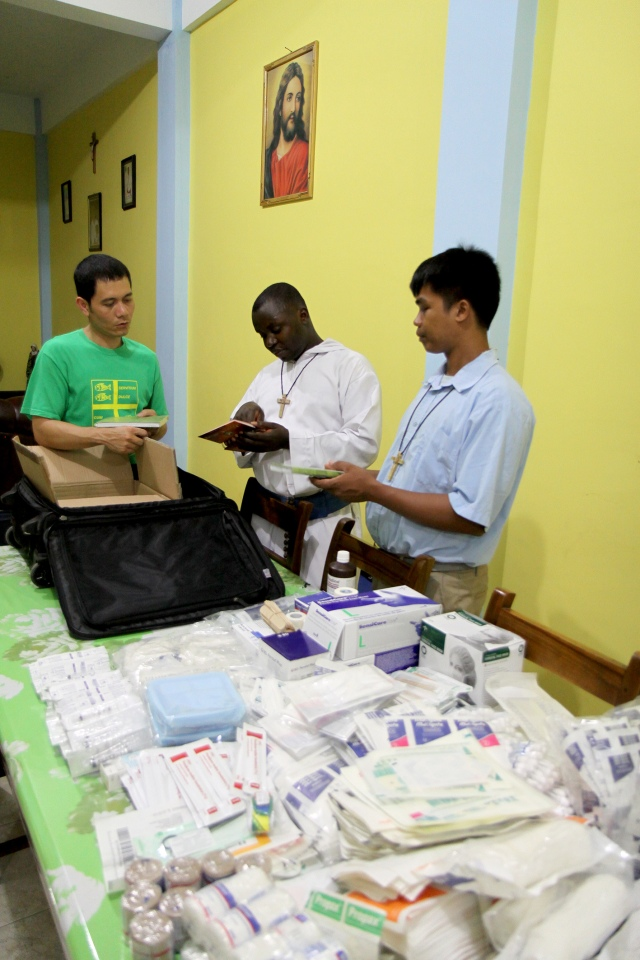 Medical supplies (Louis with Brothers Emmanuel and Joey)