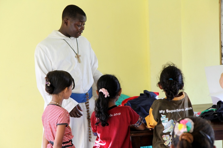 Brother Emmanuel and the children