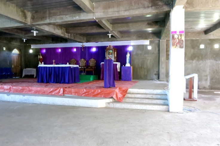 15. Altar almost complete