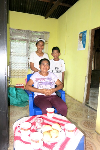 18. Visit to the sponsor children Remigius and Filomena with their mum