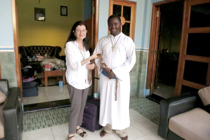 22. Brother Emmanuel receiving habit rosaries made by Rosary maker Eileen from Boonah, Queensland