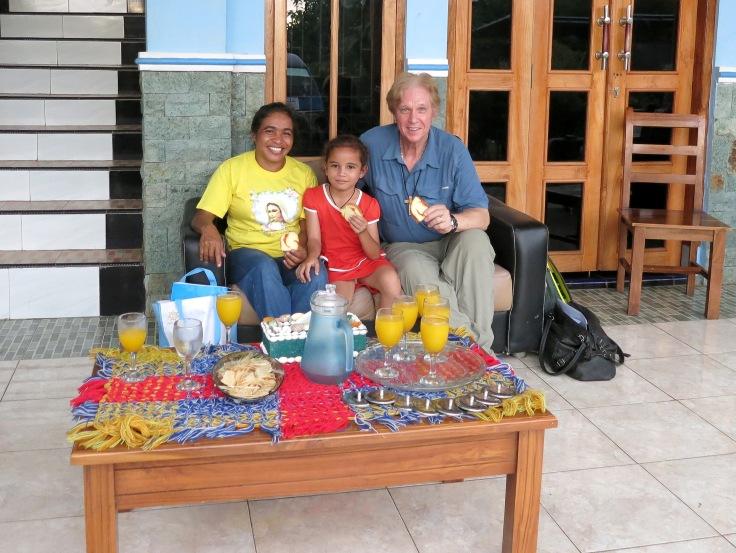27. Sponsor child Melani with grandma (nenek) and Trevor