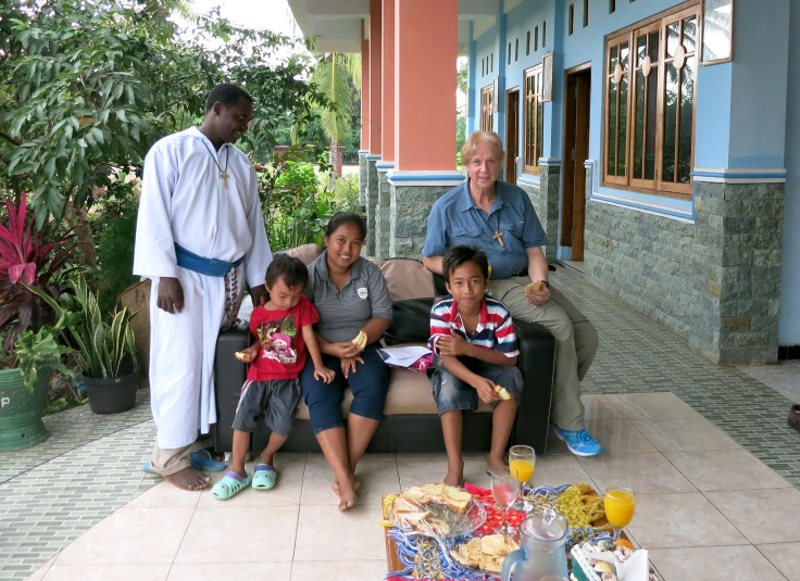 28. Sponsor child Devonne on right with his mum (mama) and younger brother