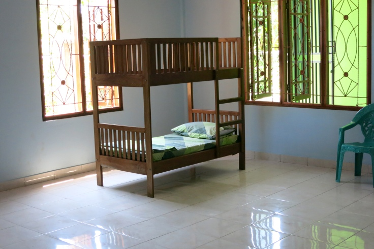 Bunk bed ready for the first resident (March 2015)