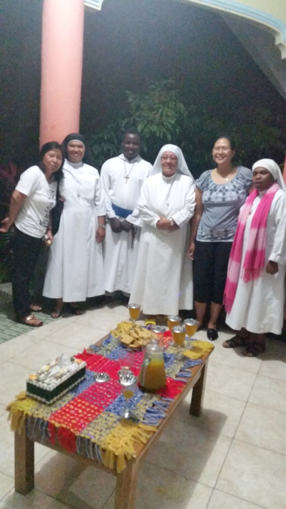 Nuns from the local order make a visit that night