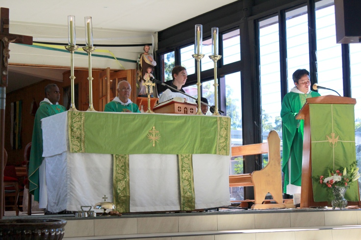 3 Concelebration of Mass - Frs Ambrose and Henry, and V Rev Fr Ho Lung