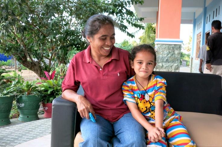 Melani (Year of birth 2007 Grade 3) with her Grandma (Nenek) (2015)