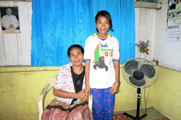 Filomena with her Mum (2014)