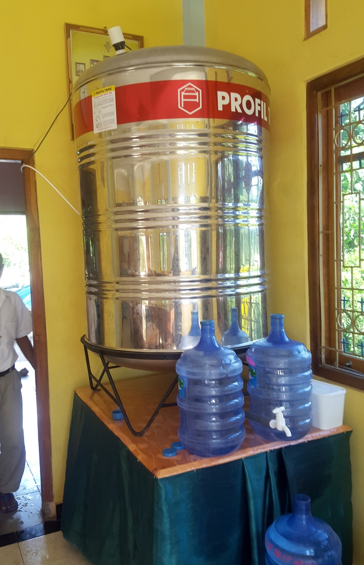 22. The tank that receives the filtered water