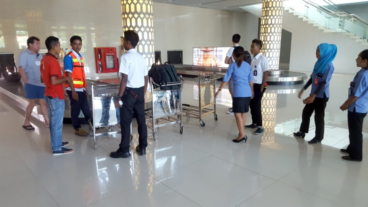 5. Airport arrivals hall - Yes with just three luggage trolleys