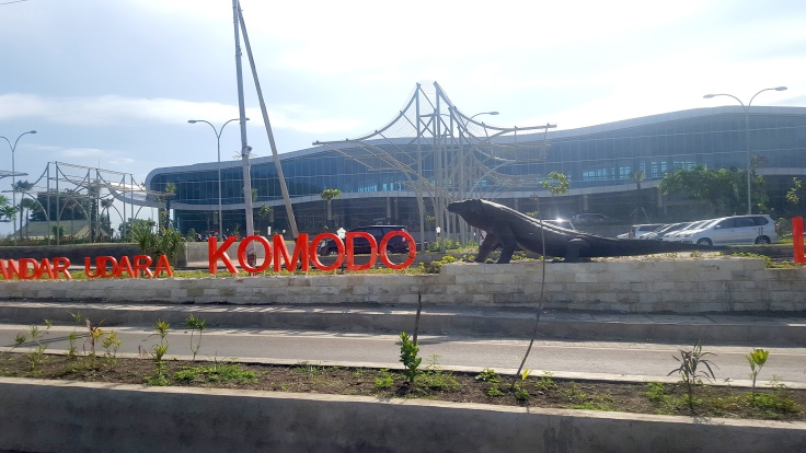 7. New signage and Komodo dragon for the Labuan Bajo airport