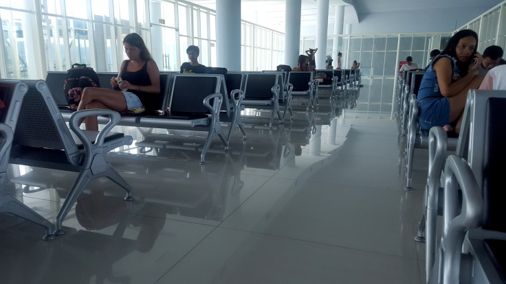 9. Departure lounge is very modern with plenty of seating, ...