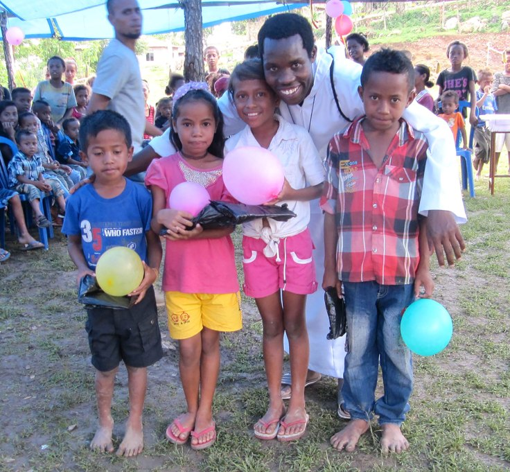 2. Br David with the children