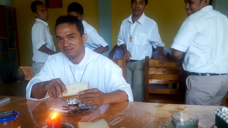 7. Brother Marc at breakfast