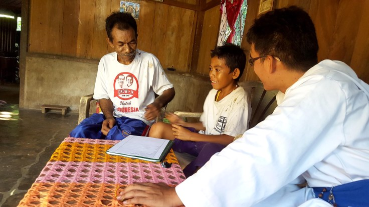 3. Br Nerlito administers the sponsorship on the ground at Labuan Bajo