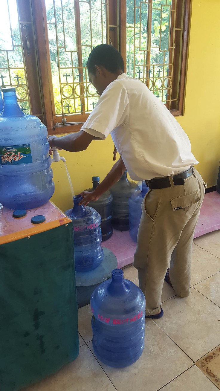 9. Jobs at the monastery continue, water filling...