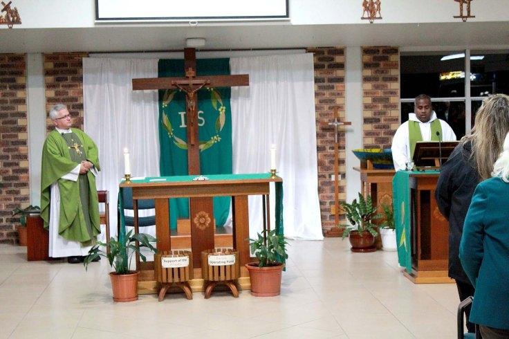 1. Fr Ambrose concelebrating Mass with Fr Tony at Regents Park