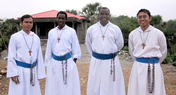 1. The brothers of the Timor Leste mission L to R Br Jimmy (Superior), Br David, Br Emmanuel (temporary) and Br Elmer
