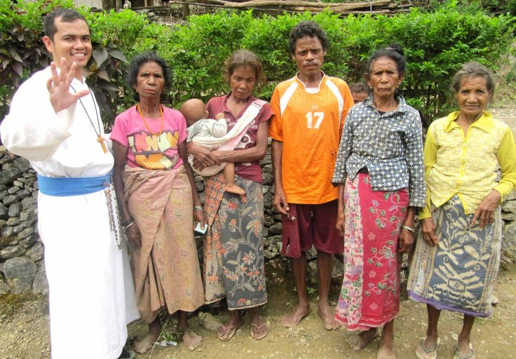 2. Br Jimmy with some of the residents of Saburai