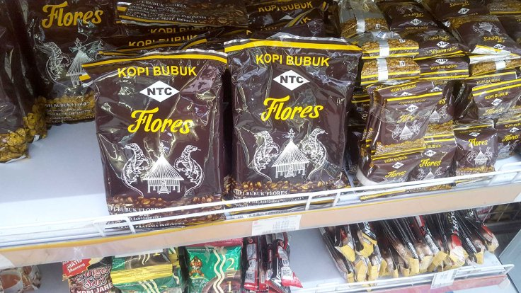 1. Very good and famous Flores Kopi (coffee) at the supermarket Roxy Mart