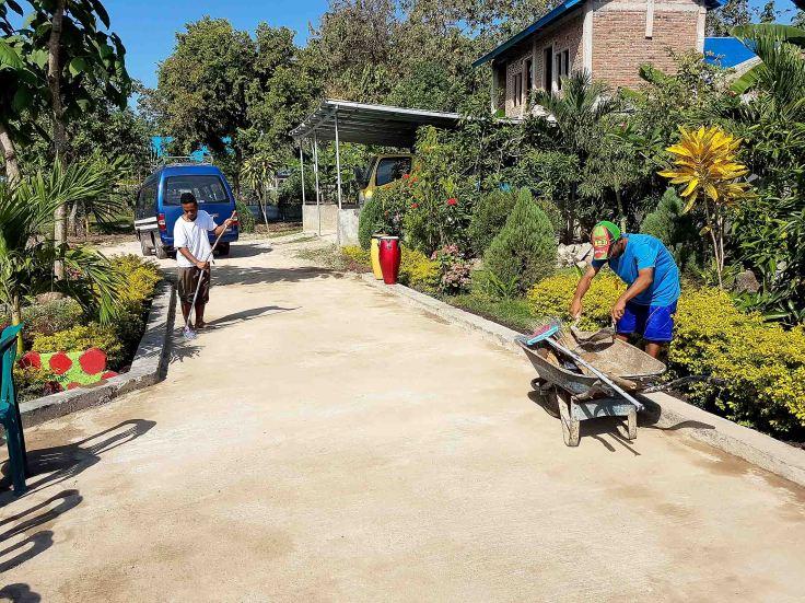 5. Preparing the garden